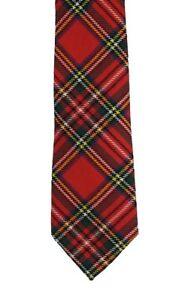Royal Stewart Tartan Tie in Modern Width - Made in the UK (6-W109/20)