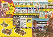 Britains Floral Garden 1960's Large A3 Size Poster Shop Sign Advert Leaflet