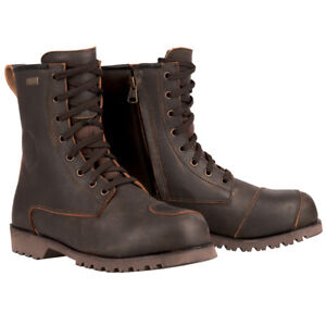 OXFORD MERTON MOTORCYCLE WATERPROOF LEATHER URBAN CASUAL RETRO BOOTS BROWN