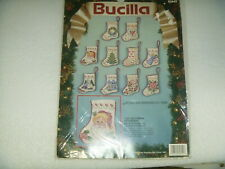Christmas Ornaments Bucilla Counted Cross Stitch Tiny Victorian Stockings 82842