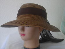 LADIES SUMMER ADJUSTABLE STRAW HATS UV FABRIC