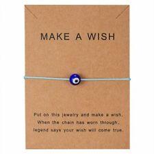 Blue Evil Eyes Paper Card Blue Bracelet Handmade Bangle Charm Women Jewelry Gift
