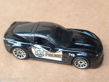 Matchbox 08 CHEVY CORVETTE ZR1 from 5 pack LOOSE Black POLICE