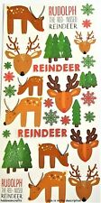 TRIMCRAFT SIMPLY CREATIVE GLITTER STICKERS - SCSTK151 CHRISTMAS - REINDEER