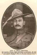 1902 Lieut W Bruce Carruthers 2nd Canadian Mounted Rifles Mentioned In Dispatche