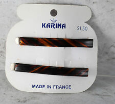 Vintage Hair Pins Bobby Pins Karina Made in France Pair Accessory 2 1/2""
