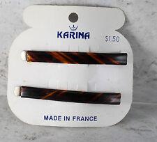 """Vintage Hair Pins Bobby Pins Karina Made in France Pair Accessory 2 1/2"""""""