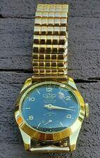 Vintage Windsor Geneva Deluxe Genova Hand Winding Swiss Men's Watch Goldtone NIB