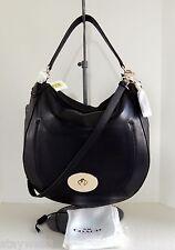 COACH Leather Large Circle Hobo w/Det. Adj. Strap 34656 + Dust Bag  NWT $425+tax