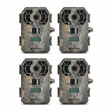 Stealth Cam 10 MP HD Video No Glow Hunting Scouting Game Trail Camera (4 Pack)