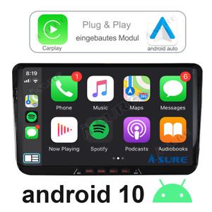 """Carplay 9""""Android 10.0 Autoradio GPS Navi DAB Für VW GOLF 5 PASSAT TIGUAN TOURAN"""