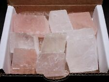 PINK & WHITE Optic Calcite Collection Natural Crystal Cubes Iceland Spar