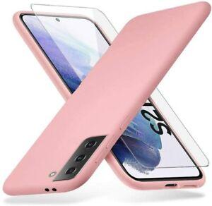 Coque Silicone TPU Rose + Verre Trempe Pour Samsung Galaxy S21 5G Little Boutik