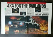 Vintage 1986 Nissan Hardbody 4x4 Truck Two Page Original Color Ad