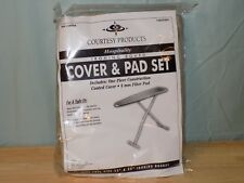 "2 Ironing Board Cover & Pad Set 100% Cotton 4mm Fiber Pad Full Size 53-54"" Tan"