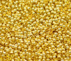 100pcs 2mm gold plated silver plated ROUND crimp beads crafts jewellery findings