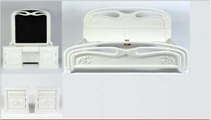 Wooden Hand Crafted White Bedroom Set