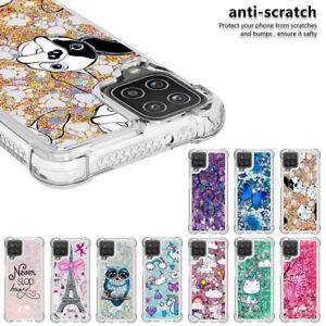 For Samsung Galaxy A12 A32 A72 A52 A71 Sparkling Shockproof TPU Soft Phone Case