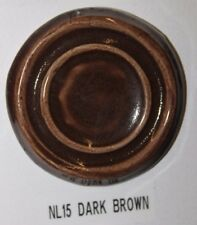 Nl 15 Dark Brown Gloss Glaze Cone 06/04, Pound Lot Of 3.5 (3 1/2)