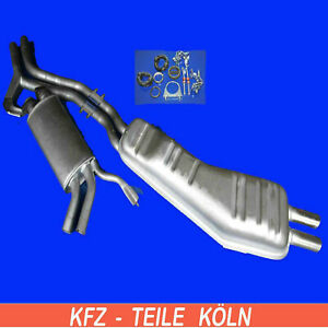 BMW E34 525i Middle Silencer + Muffler Exhaust System + Assembly Kit