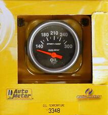 "Auto Meter 3348 Sport Comp Electric Oil Temperature Gauge 100-300 F 2 1/16"""