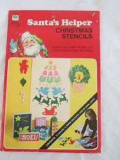 New Vintage Whitman Santa's Helper Christmas Stencils 1976 Patterns Craft Kit
