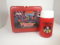 VINTAGE 1987 PHOTON Original Plastic Red Lunch Box w/ Thermos
