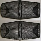TWO VINYL COATED METAL Minnow Crawfish Traps BRAND NEW! 2 TRAPS! CATCH BAIT!