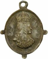 King Charles II, Restoration, oval silver badge by Thomas Rawlins 1660