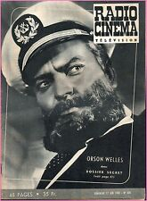 ▬►RADIO CINÉMA TÉLÉVISION 335 (1956) ORSON WELLES