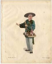 Apotheker-Medizin-China-Chinese Kupferstich Dadley 1800 Ethnologie-Beruf