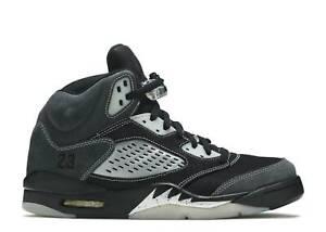 Air Jordan 5 Retro Anthracite Grey V Suede Mens Shoe sz 10
