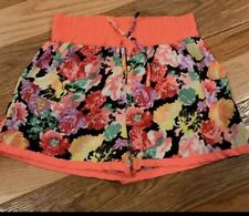 Girls Floral Athletic Shorts Real Live 14/16