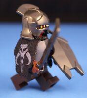LEGO® LORD OF THE RINGS™ URUK HAI CAPTAIN 100% LEGO Minifigure + Custom Cape