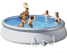 💦 Bestway 10ft Quick Up Round Family Pool Paddling With Filter & Cover FREE P&P