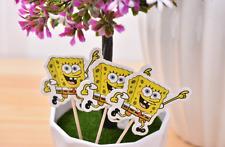 12 PCS Spongebob Squarepants CUPCAKE TOPPERS KIDS PARTY SUPPLIES BABY DECORATION