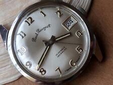 Vintage Paul Peugeot Dress Watch w/Warm Patina,Diver All SS Case,AS 1802/03 Mvmt