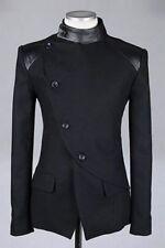 Men's Designer Bespoke Double Breasted Bandgala Mandarin Jacket With 4 Button US