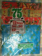 Vintage Christmas Wrapping Paper Gift Wrap Nos Never Opened 12 Designs 75 Sq Ft