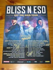BLISS N ESO - OFF THE GRID 2017 Australia Tour SIGNED AUTOGRAPHED  Poster.