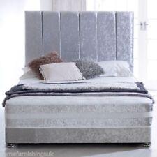 Velvet Orthopaedic Modern Beds with Mattresses