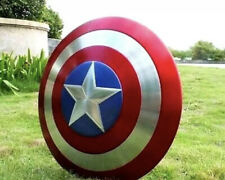 Full Metal 1:1 Captain America Shield Adult 48cm Quality Prop Cosplay Display