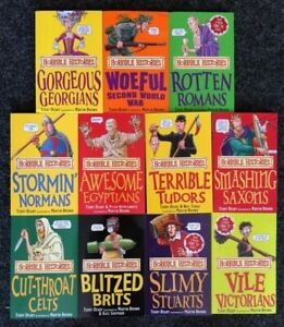 Job lot of 11 Horrible History Books by Terry Deary Free Postage