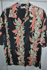 Bull Head Mens XL Classic Old Style Lei Vertical Band Print on Black/Mint
