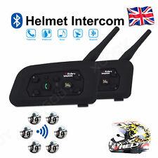 1200m BT Helmet Intercom Interphone Motorbike Headsets Hands Free 6 Riders 1Pair
