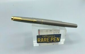 Vintage Parker T1 T-1 TITANIUM Rollerball pen w/ Matching Section MINT or UNUSED
