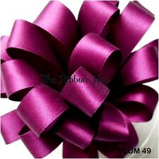 50mm Wide Double Sided Satin Ribbon 58 Colours 1 Mtr Lengths by Berisfords