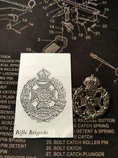 WWI British RIFLE BRIGADE Cap Badge