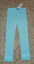 Naartjie Blue Stillwater Spotty Leggings With Mesh Size 7 Xl New
