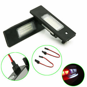 For BMW 6 Serie E63 Coupe Number License Plate Light Lamp Tail LED 2PCS